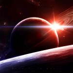 Sunrise in Space Wallpaper