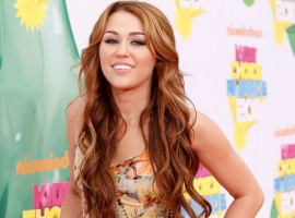 Young Miley at Nickelodeon Kids Choice Awards