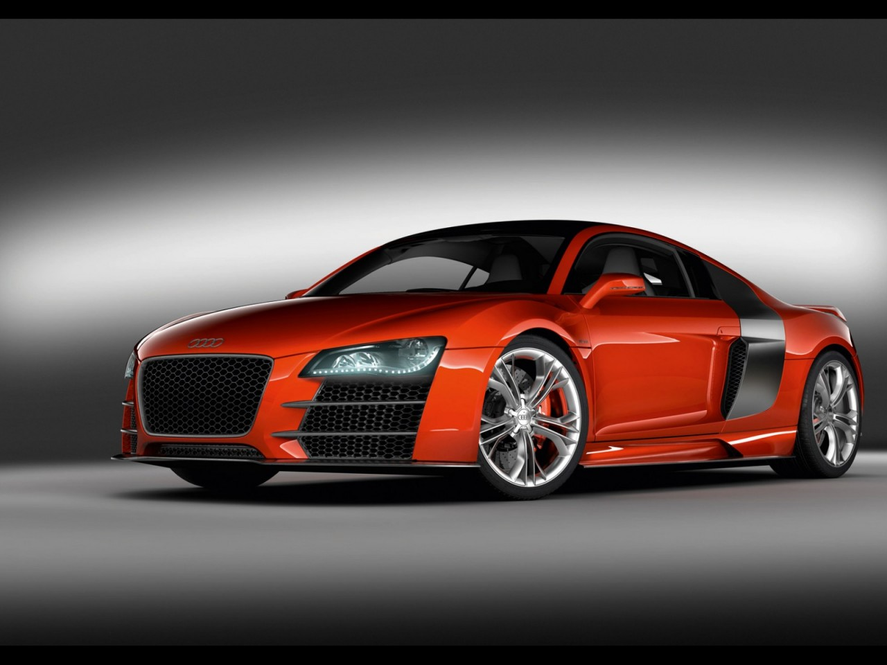 Cool Red Audi Sports Car Desktop Hd Wallpapers