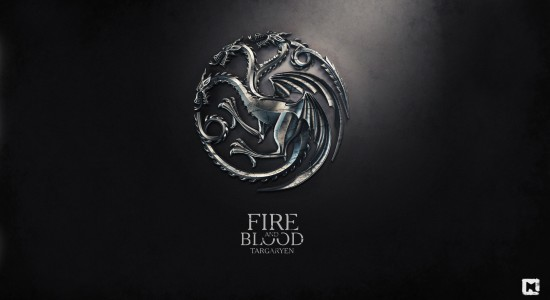 Fire and Blood Targaryen Game of Thrones Wallpaper