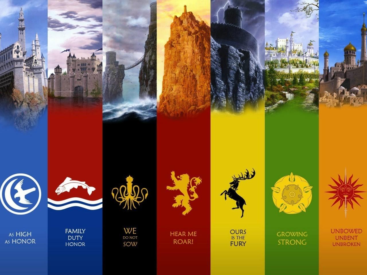 Game Of Thrones Houses High Res Desktop Wallpaper Hd Wallpapers