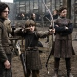 Robb & Bran Stark with Brother Jon Snow Game of Thrones