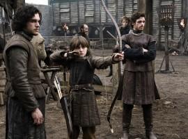 Robb & Bran Stark with Brother Jon Snow Game of Thrones