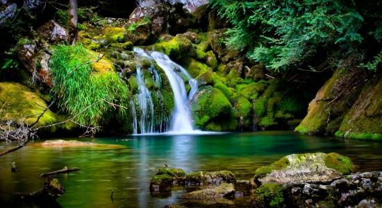 Serene Desktop Waterfall Wallpaper