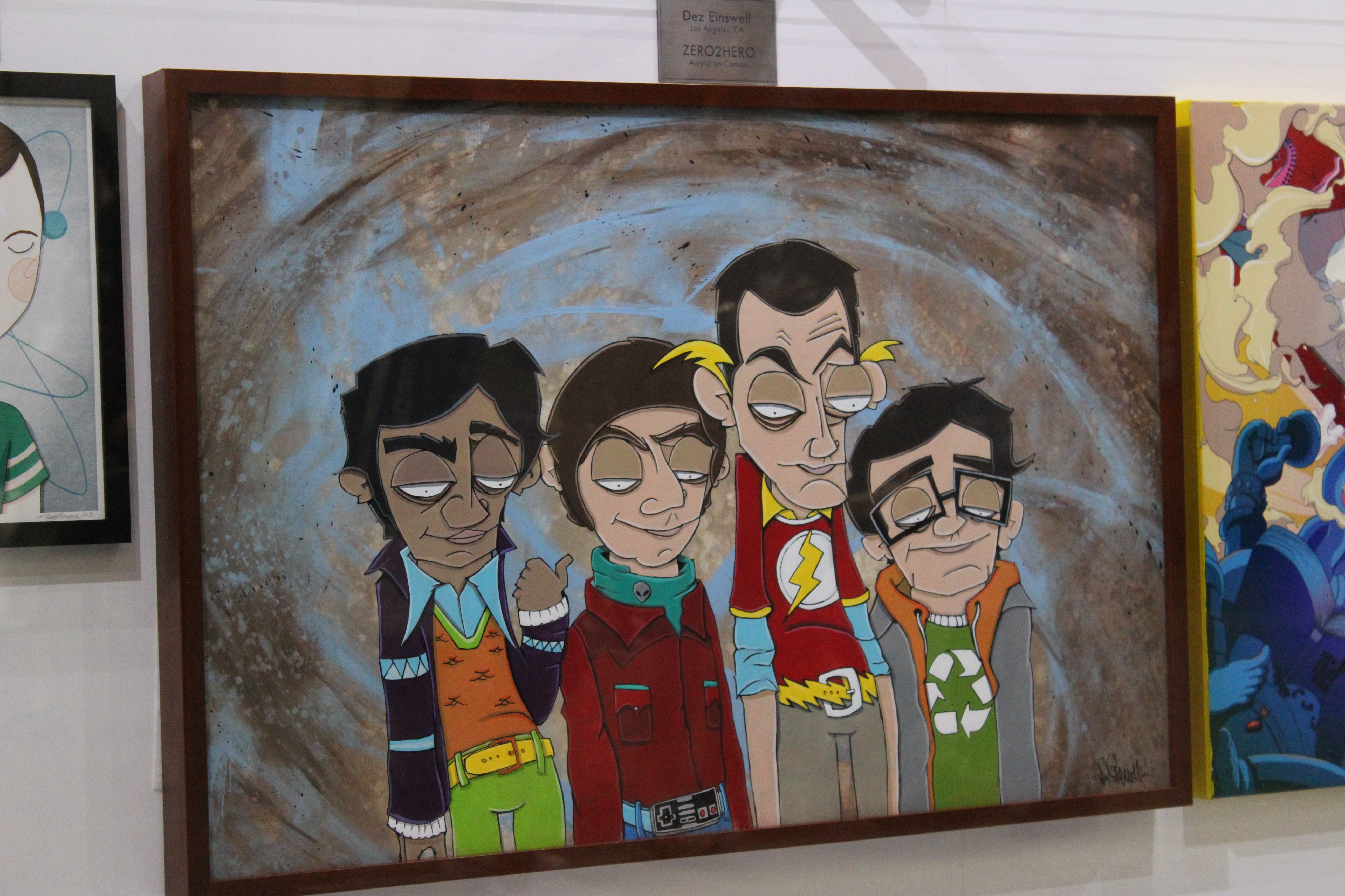 Painting of The Big Bang Theory