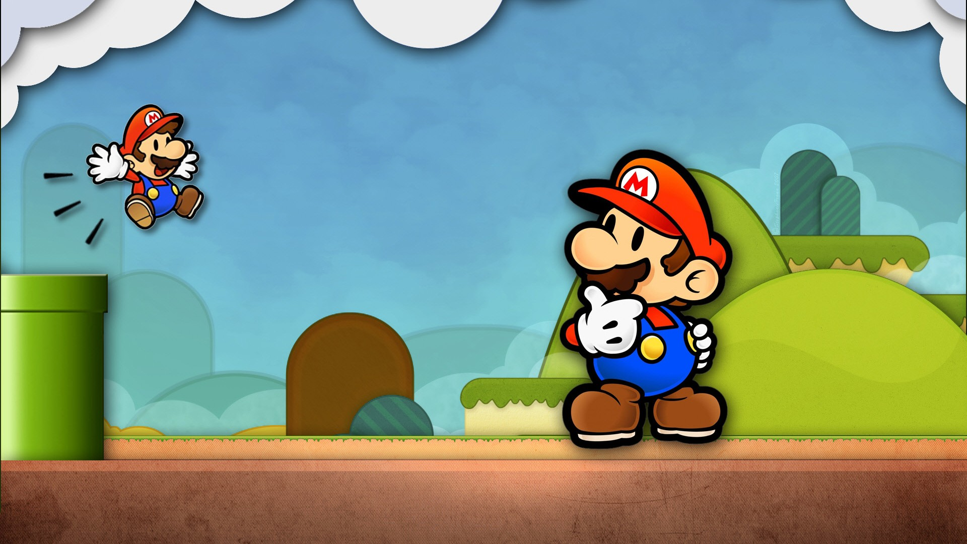 cartoon mario hd wallpaper