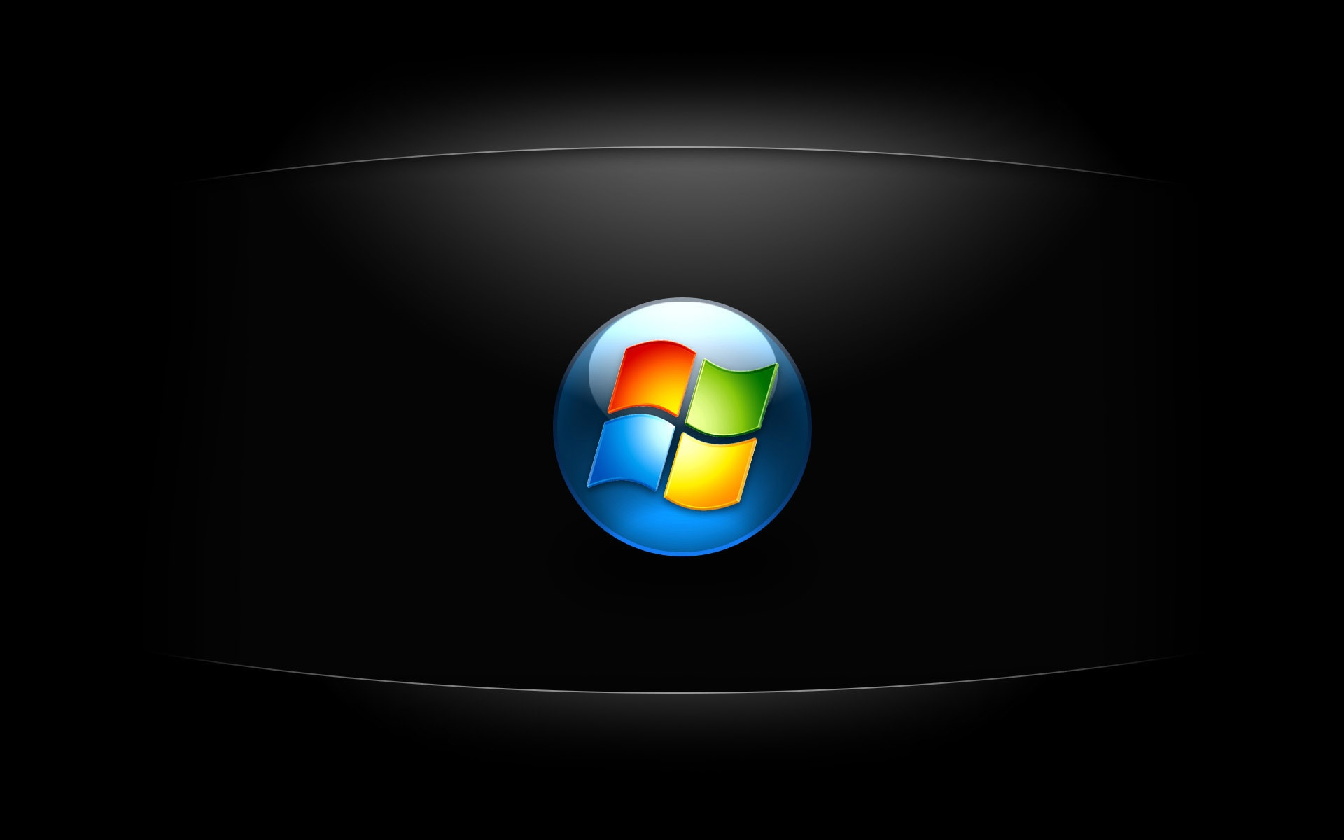 Dark Windows 7 HD Wallpaper