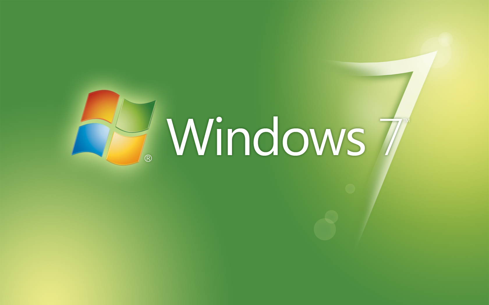Greenish Windows 7 Logo Wallpaper