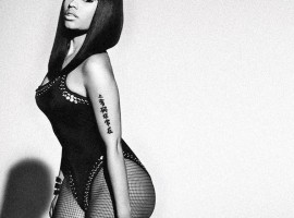 Nicki Minaj black and white wallpaper