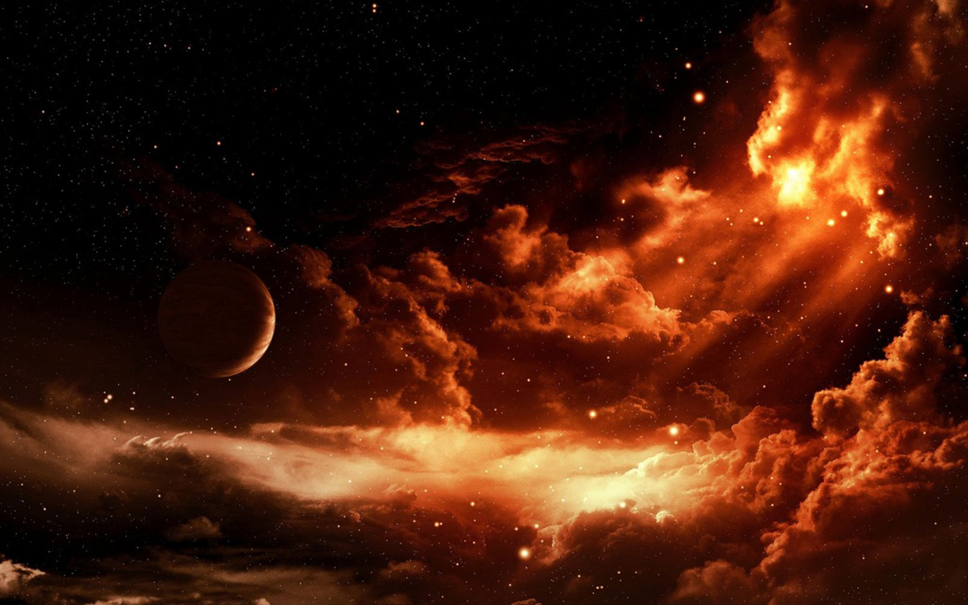Red Fire Like Sky Hd Wallpapers