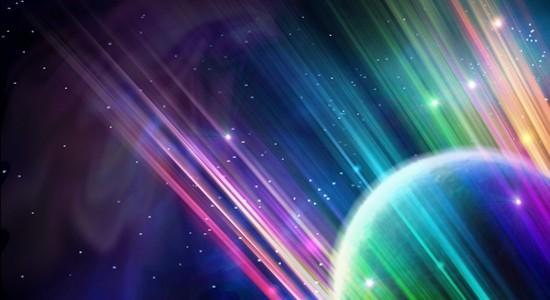 Surreal Colourful Space Scene