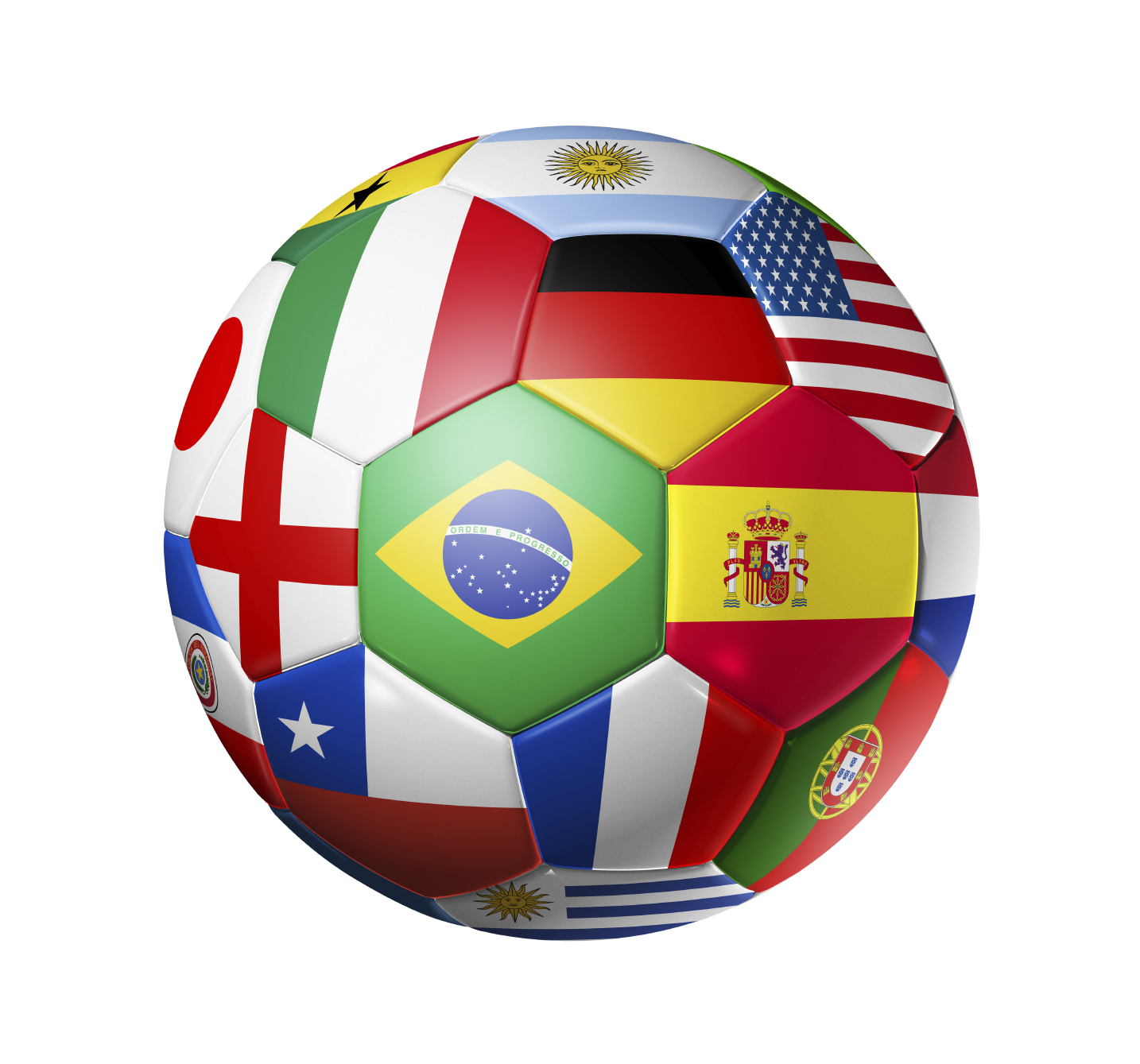 2014 World Cup Ball Of Flags