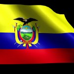 Blowing Ecuador Flag