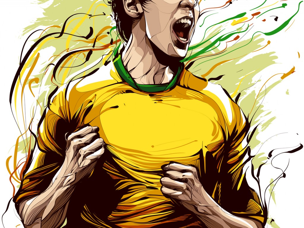 Cristiano Siqueira Football Player Illustration - HD ...