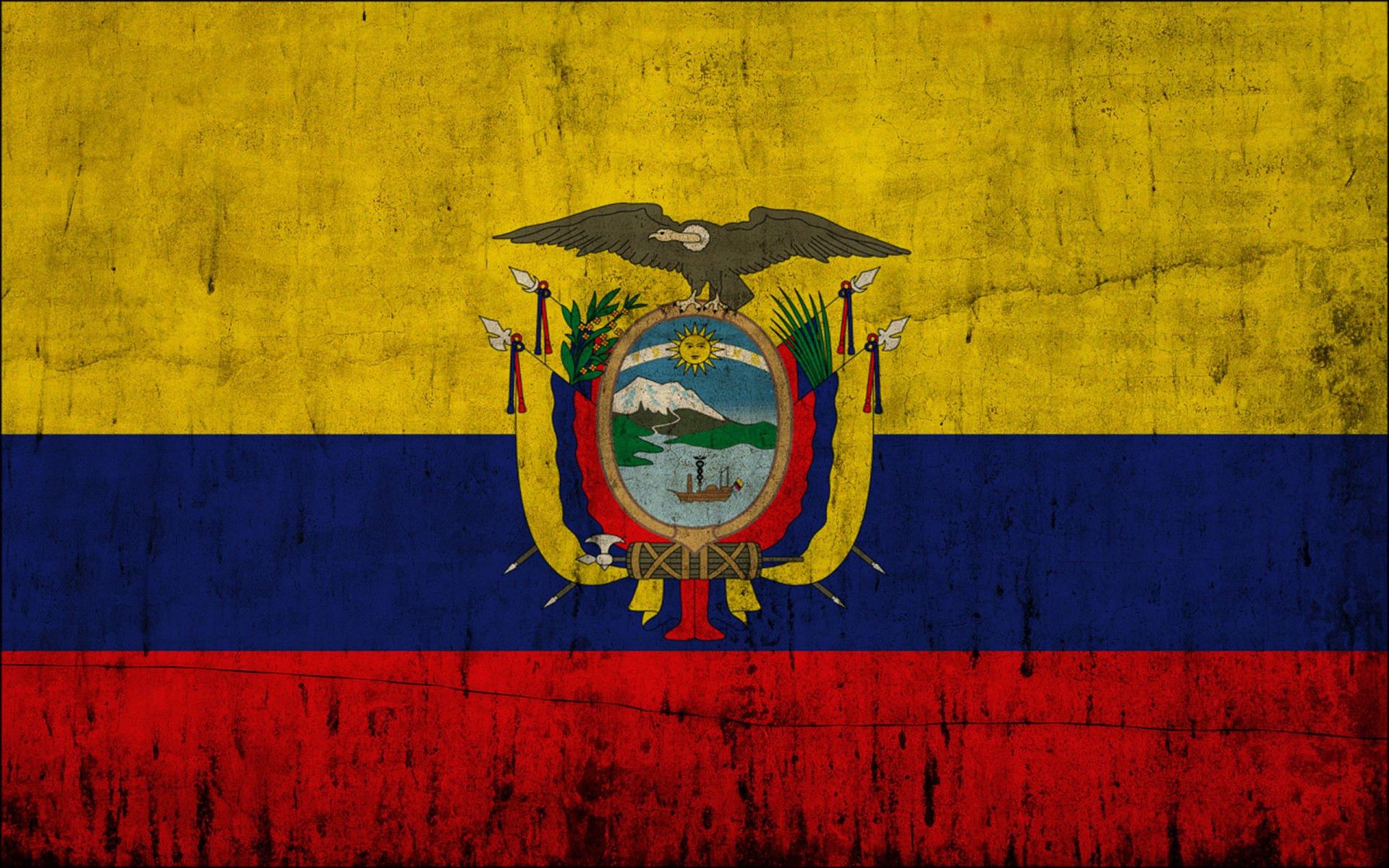 Great Ecuador Flag Hd Wallpapers