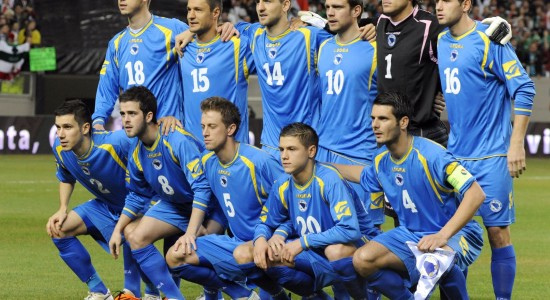 The starting players of the Bosnia-Herze