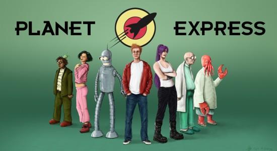 Lifelike Planet Express - Futurama
