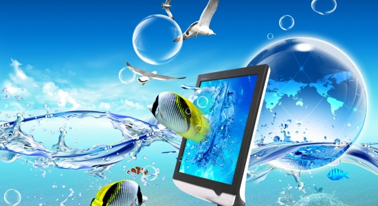 Abstract Underwater Technology Wallpaper