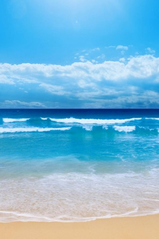 Beautiful Beach Side View Iphone Wallpaper