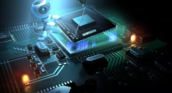 Computer Chip Robot