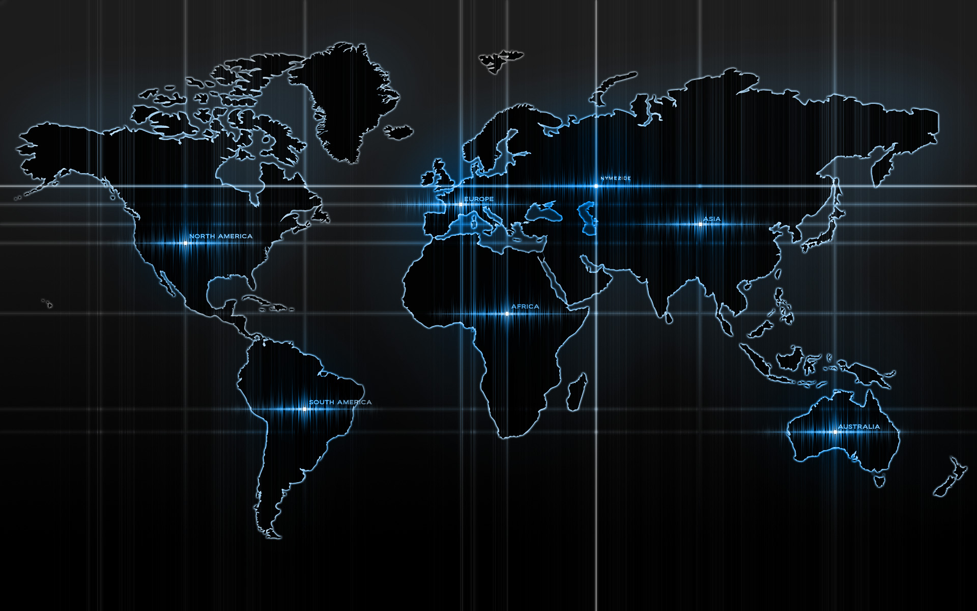 Computer Lit World Map Hd Wallpapers
