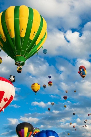 Country Air Balloons Iphone Wallpaper