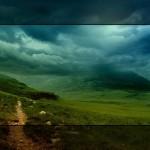 Mountain Top Stormy Skies