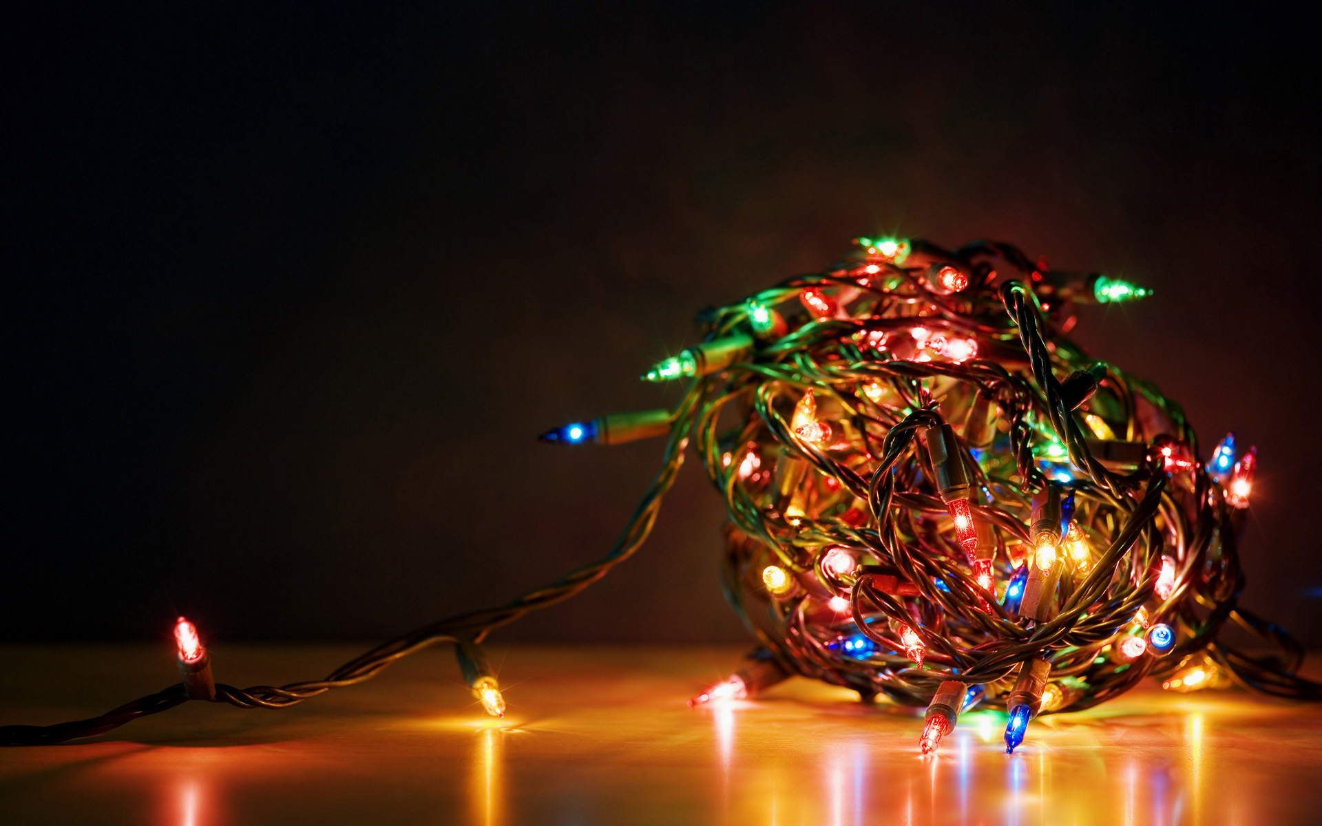 christmas lights - hd wallpapers