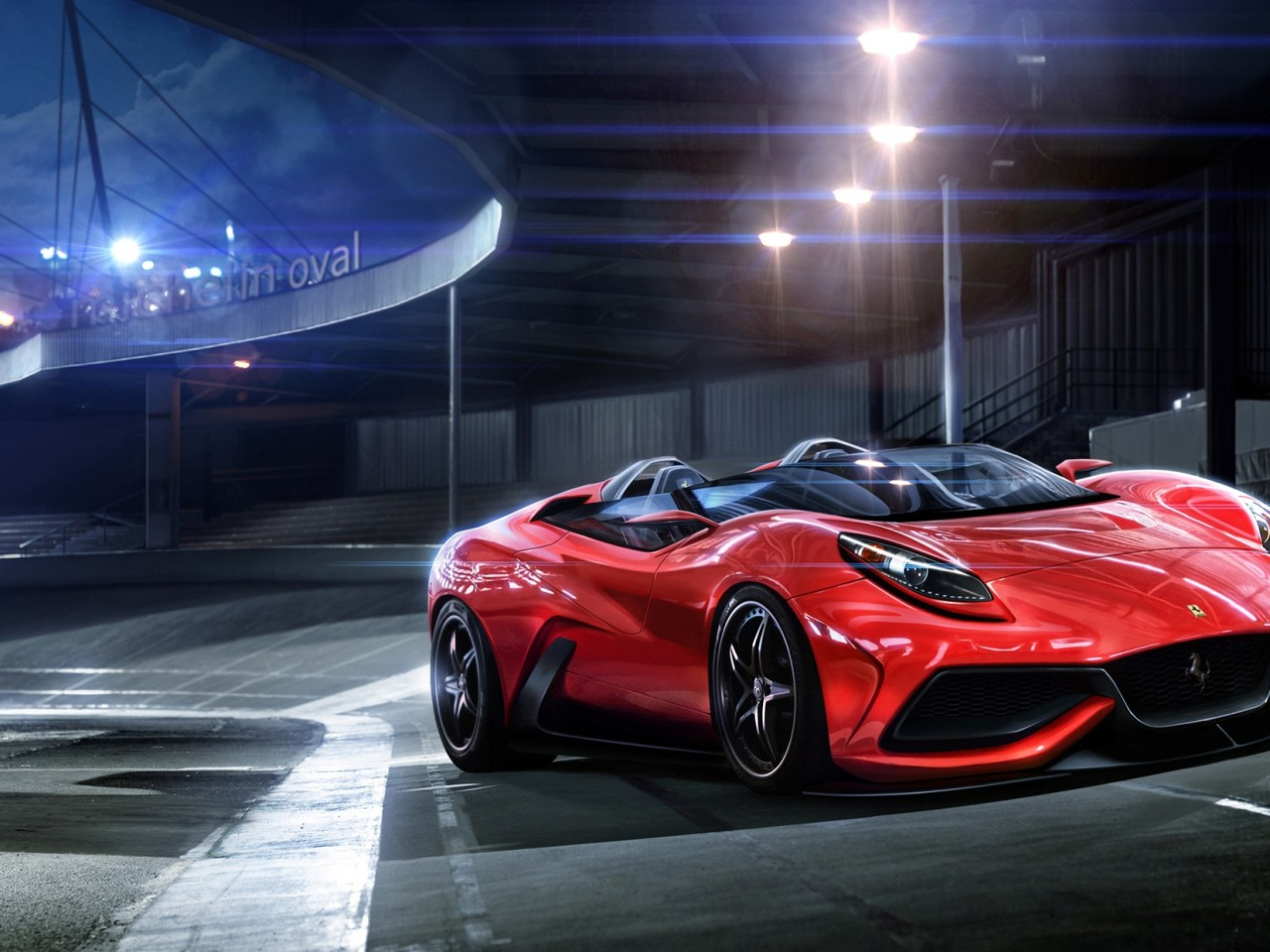 Sleek Red Sports Car Wallpaper High Resolution Wallpaper