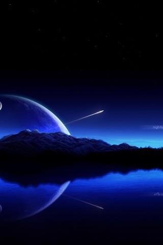 Blue Sky Shooting Star - HD Wallpapers