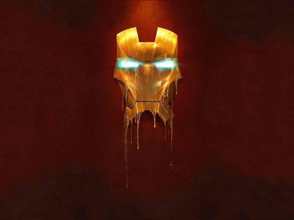 Iron Man 3 Hd Wallpapers High Resolution: Melting Iron Man Mask