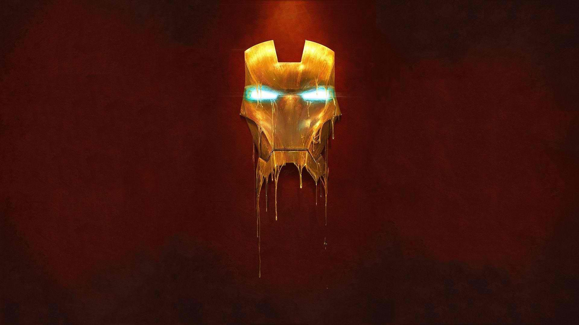 Melting Iron Man Mask