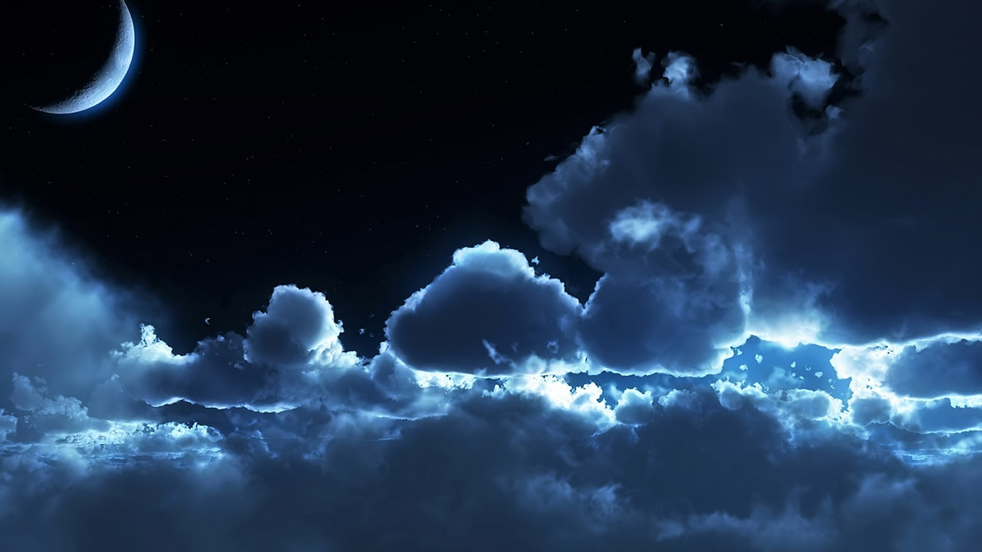Night Sky Clouds Hd Wallpapers