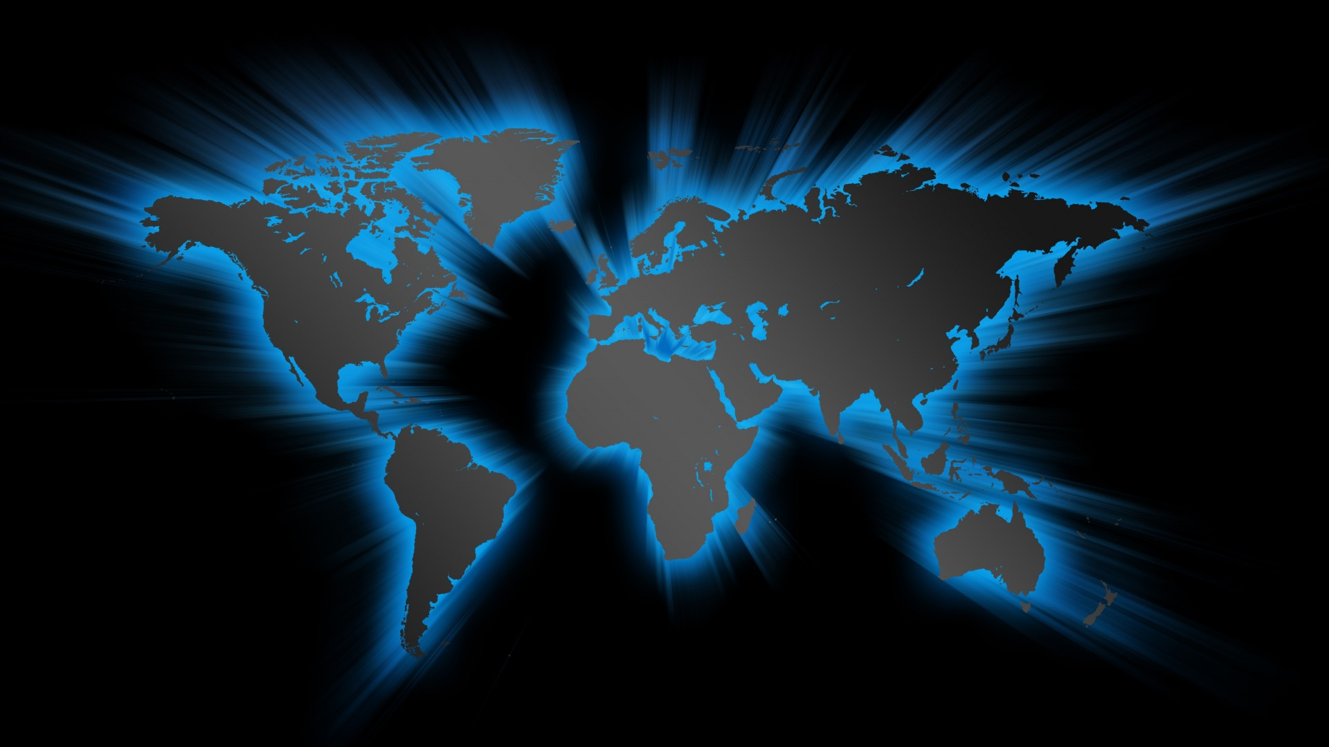 Blue Effect World Map - HD Wallpapers