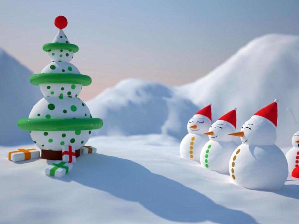 Ipad Christmas Wallpaper Hd: Snowman Christmas Wallpaper