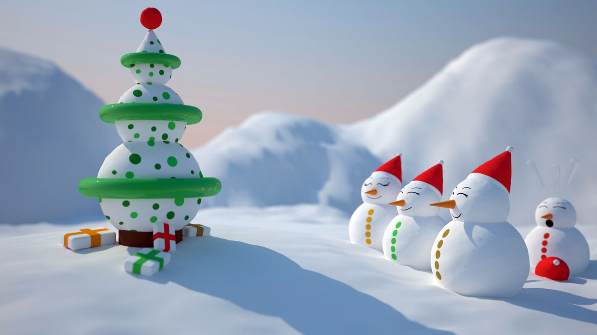 Snowman Christmas Wallpaper Hd Wallpapers