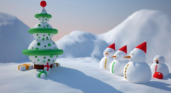 snowman-christmas-wallpaper
