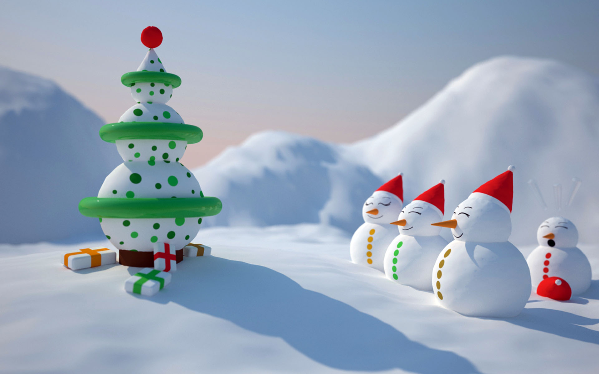 snowman christmas wallpaper - hd wallpapers