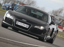 Black Audi R8 V8 Supercar