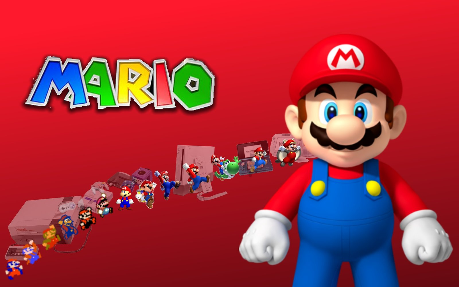 Mario Evolution Wallpaper