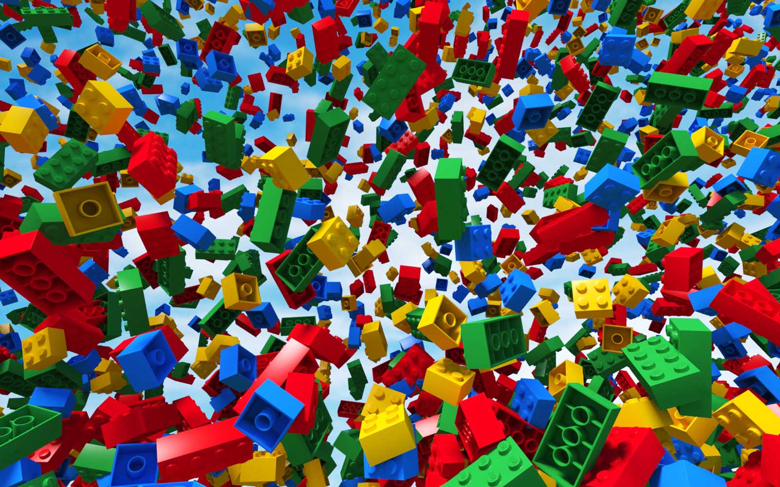 Raining Lego Wallpaper