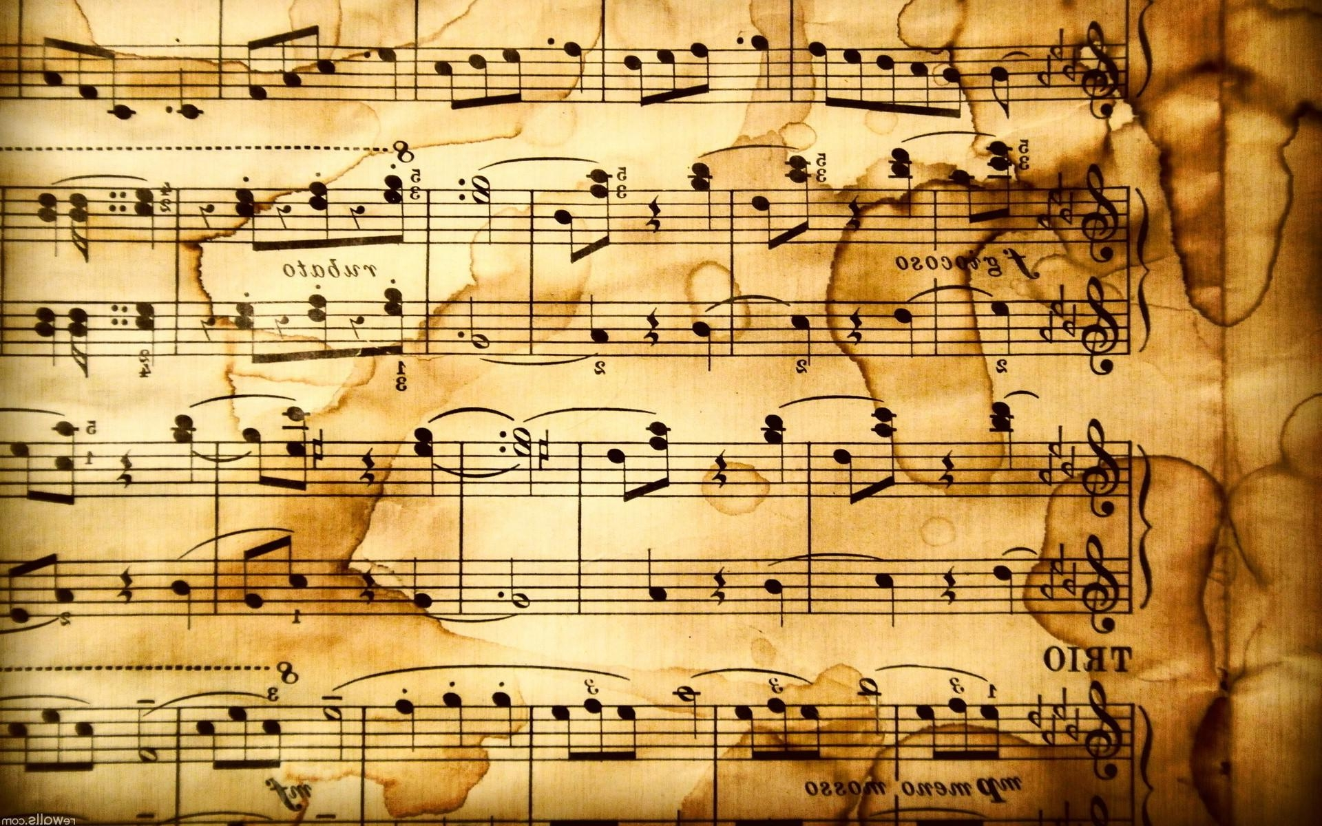 Rustic HD Music Notes Wallpaper - HD Wallpapers