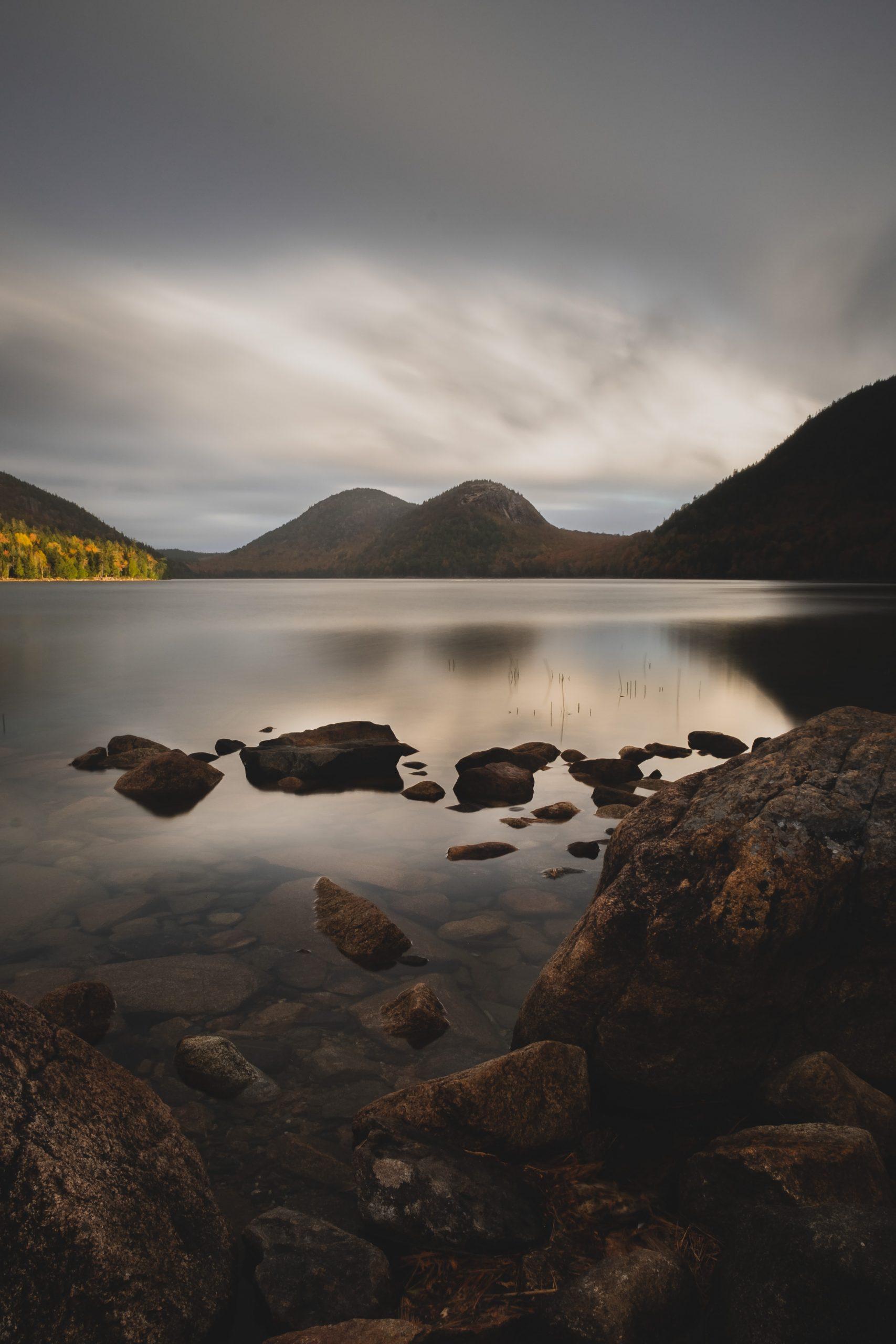 Cloudy Lake Wallpaper