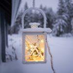 Cozy Lamp in Snow Wallpaper