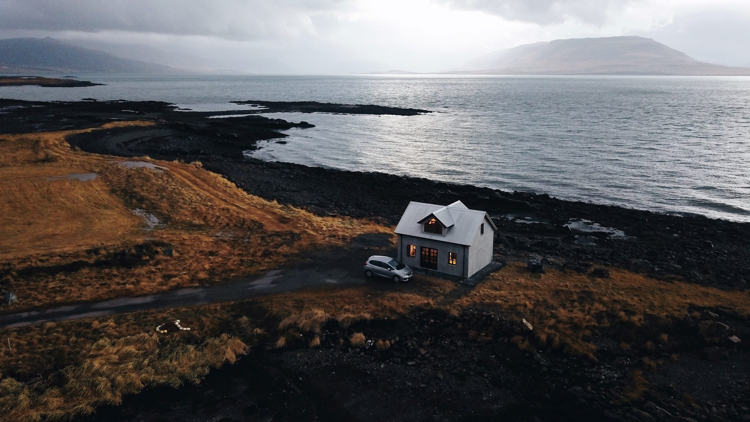 Solitary House at the Seashore