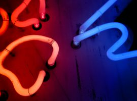 Stand Out with this Neon Lights Wallpaper