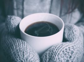 Coffee in Winters Wallpaper